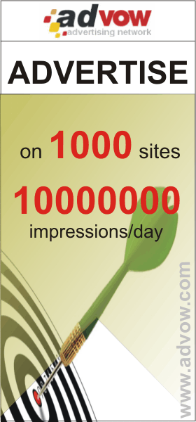 Promote your products and services. 1000 sites. 10000000 impressions per day