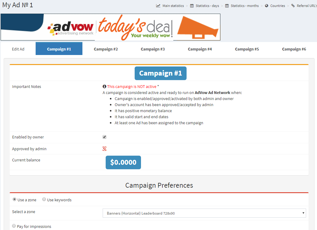 Assigning Ad to Campaign